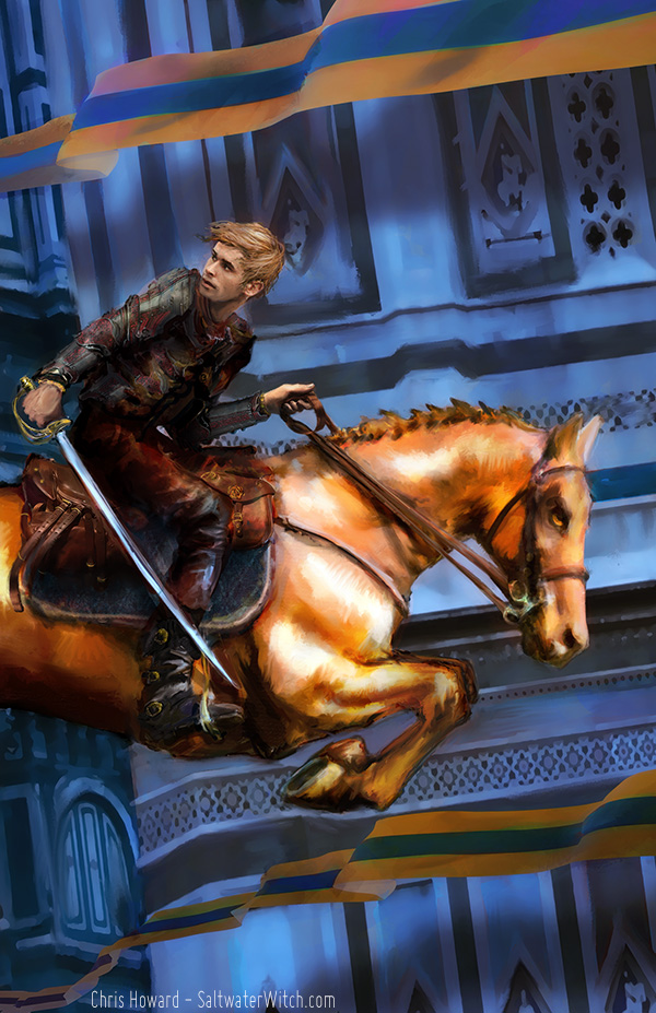 Cover art for Rider of the Sun Horse by RJ Blain