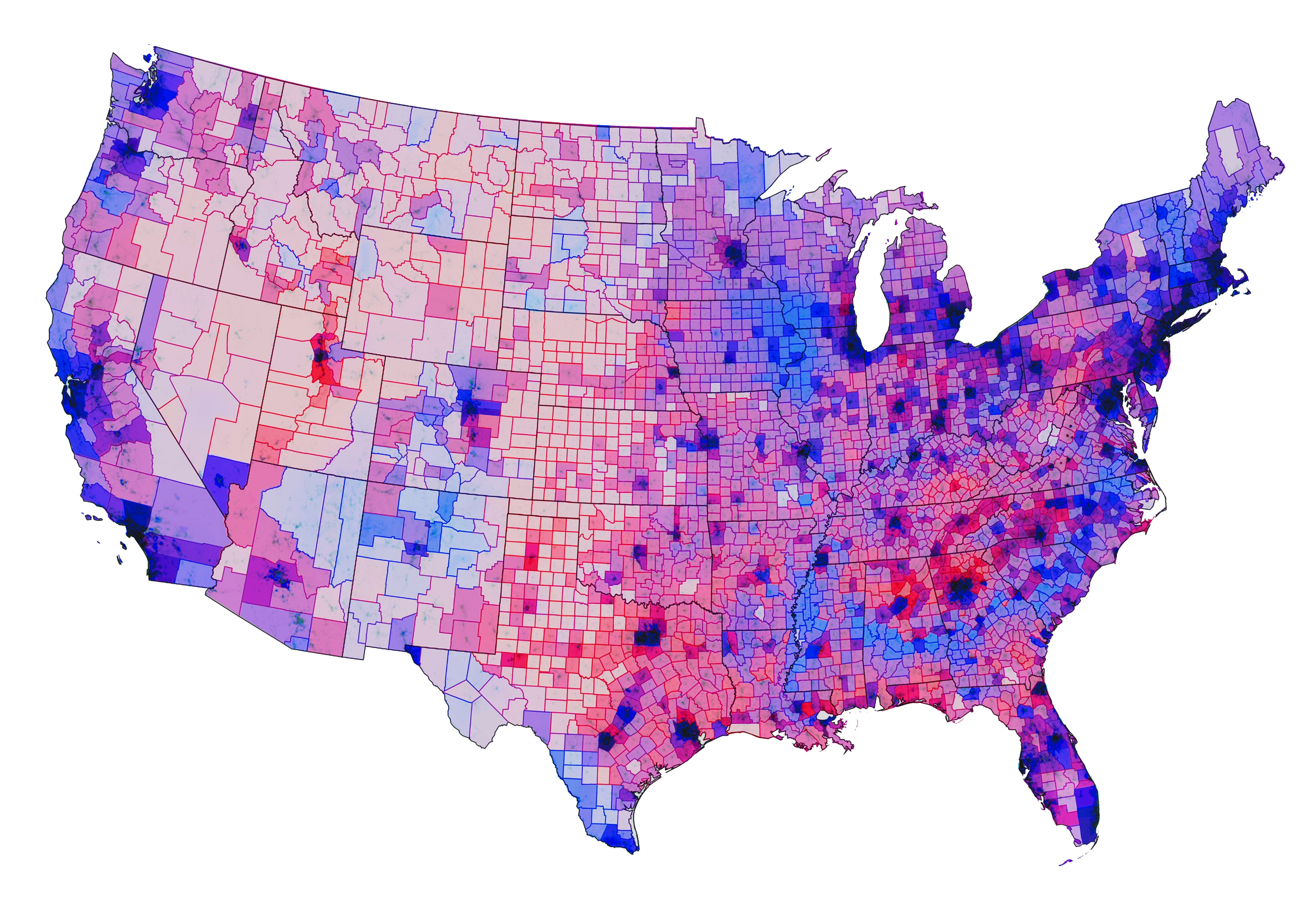 Mahir  Casualdata  Blending Of Colors Is The New Hot Topic In - Us map color